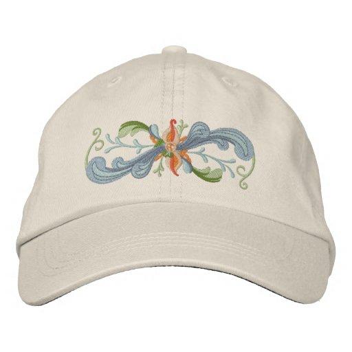 Rosemaling Bestickte Mütze