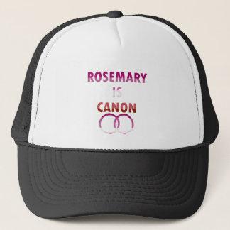 Rosemary ist Canon (v2) Truckerkappe