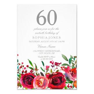 Rosen-60. Geburtstags-Party Einladung