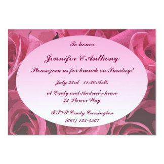 Rosen-abstrakter HochzeitBrunch 12,7 X 17,8 Cm Einladungskarte