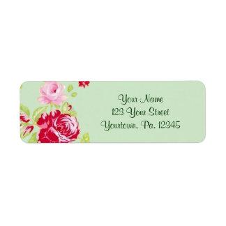 Rosen-Adressen-Etikett Rücksende Aufkleber