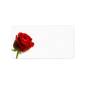 Rosen-Adressen-Etiketten Adressetikett