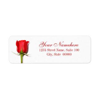 Rosen-Adressen-Etiketten Rücksendeetikett