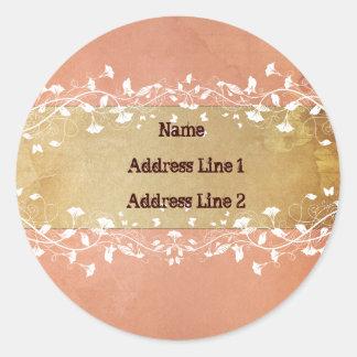 Rosen-Adressen-Etiketten Runder Aufkleber