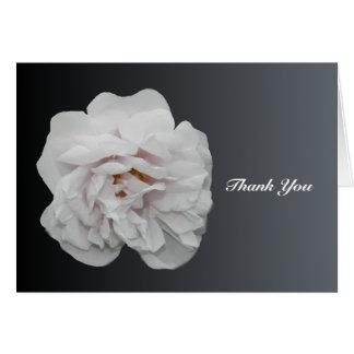 Rosen-Beileid danken Ihnen Anmerkungs-Karte mit Karte