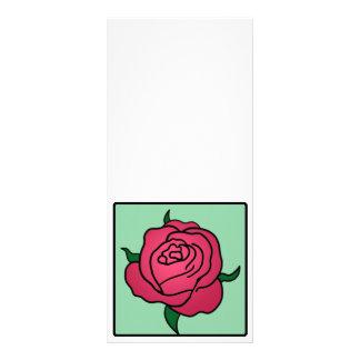 Rosen-Blume Cartoon-Klipp-Kunstvalentines Tages Werbekarte