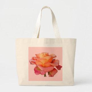 Rosen-Blume rosarote gelbe Tasche