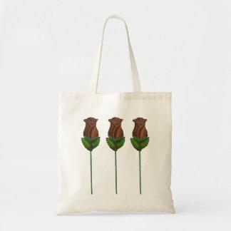 Rosen-Blume Schokoladen-Rosenvalentines Tagesmit Tragetasche