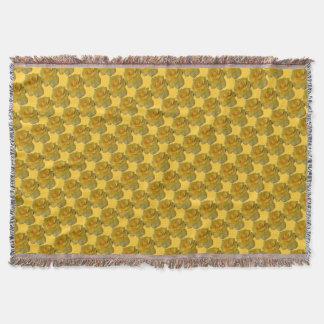 Rosen-Blumen-Decken-Gelb-Rosethrow-Decken-Geschenk Decke