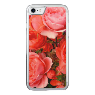 Rosen, Blumen, iPhone 6 dünnes Ahorn-Holz Carved iPhone 7 Hülle
