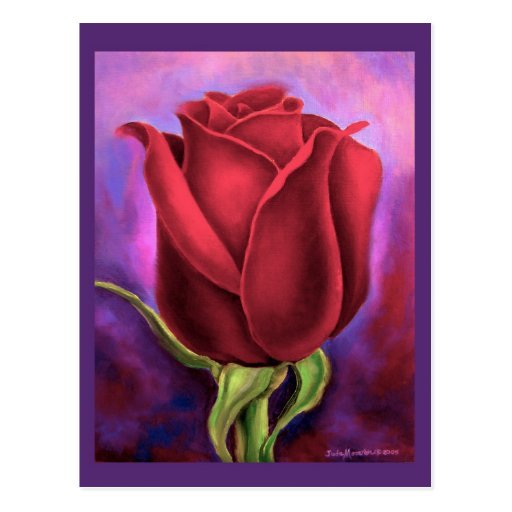 rosen blumen malerei multi postkarte zazzle. Black Bedroom Furniture Sets. Home Design Ideas