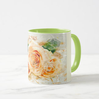 Rosen, Blumen, romantisch, Watercolor Tasse