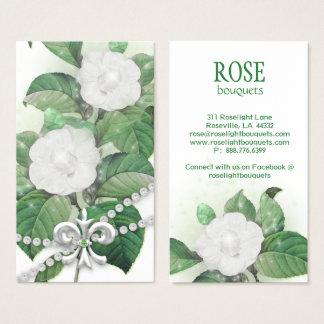 Rosen-Blumen-Schein beleuchtet Perlen-Lilie Visitenkarte