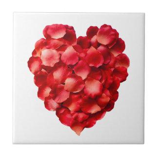 Rosen-Blumenblatt-Herz Kacheln