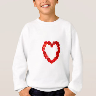 Rosen-Blumenblatt-Herz-Form Sweatshirt