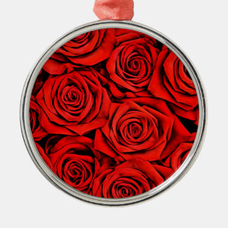 Rosen-Blumenblumenblatt-Blüten-Pflanzen-Blume Silbernes Ornament