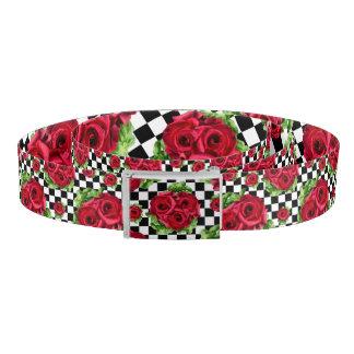 Rosen-Blumenstrauß-BlumenLiebe Rockabilly Gürtel