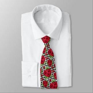 Rosen-Blumenstrauß-BlumenLiebe Rockabilly Krawatte