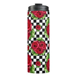 Rosen-Blumenstrauß-BlumenLiebe Rockabilly Thermosbecher