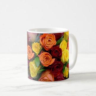 Rosen-Blumenstrauß - Kaffeetasse