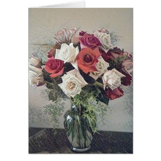 Rosen-Blumenstrauß Karte
