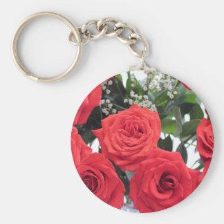 Rosen-Blumenstrauß mit Babys Atem Schlüsselanhänger