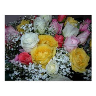 Rosen-Blumenstrauß-Postkarte Postkarte