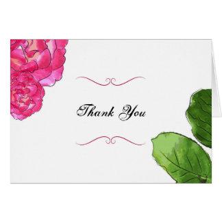 Rosen-Blüte dankt Ihnen Karte