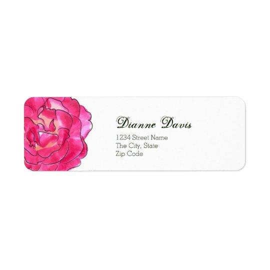 Rosen-Blüten-Adressen-Etikett Rücksendeetikett