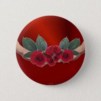 Rosen des Liebe-Knopfes Runder Button 5,1 Cm