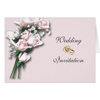 Rosen, die Einladungs-Karte Wedding sind Grußkarte