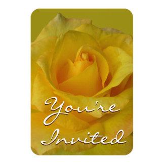 Rosen-Einladungs-personalisierte gelbe Rose UAWG 8,9 X 12,7 Cm Einladungskarte
