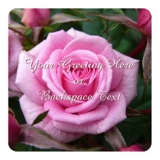 Rosen-Einladungs-personalisierte rosa Rose UAWG Individuelle Einladung