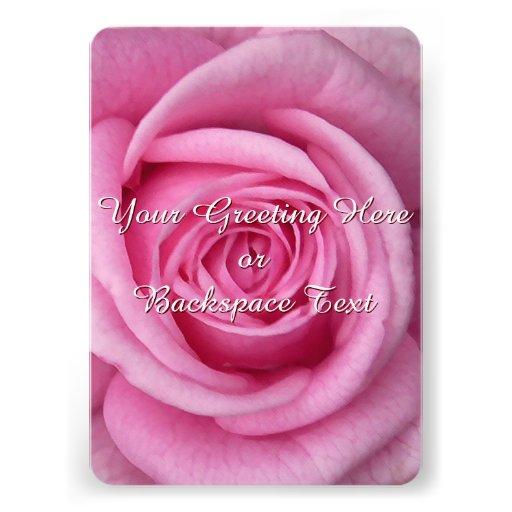 Rosen-Einladungs-personalisierte rosa Rose UAWG Individuelle Ankündigskarten