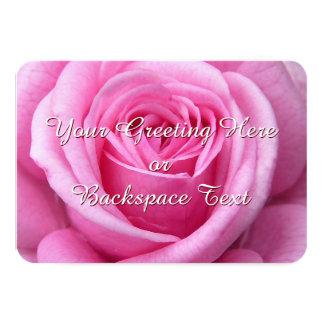 Rosen-Einladungs-personalisierte rosa Rose UAWG 8,9 X 12,7 Cm Einladungskarte