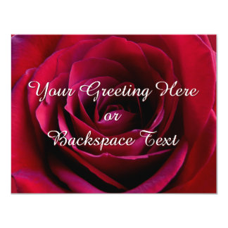 Rosen-Einladungs-personalisierte Rosen UAWG Karten 10,8 X 14 Cm Einladungskarte