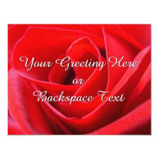 Rosen-Einladungs-personalisierte Rosen UAWG Karten Ankündigung