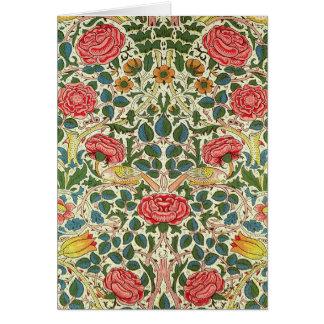 Rosen-Entwurfs-Vintage feine mit Blumenkunst Mitteilungskarte