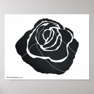 Rosen-Felsen-Plattenen-Plakat Poster