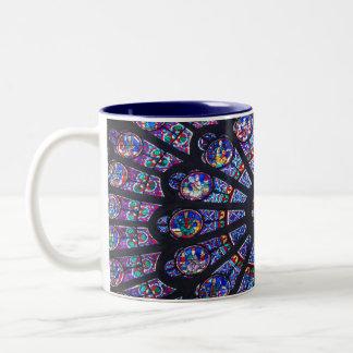 Rosen-Fenster Paris Zweifarbige Tasse
