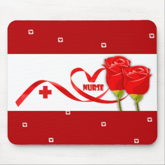 Rosen für Krankenschwester. Geschenk Mousepads