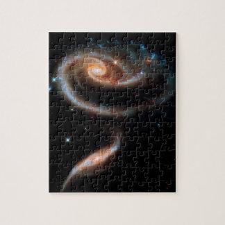 Rosen-Galaxien Hubble Arp 273 Weltraum-Foto Puzzle