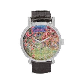 Rosen-Garten-Armbanduhr Claudes Monet