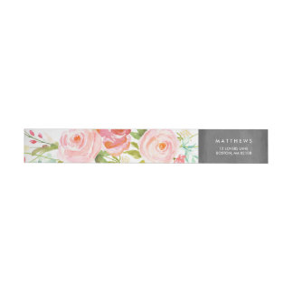 Rosen-Garten-Blumentafel Rundum-Adressaufkleber Für Rückversand