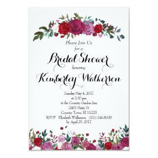 Rosen-Garten-Brautparty-Einladung Karte