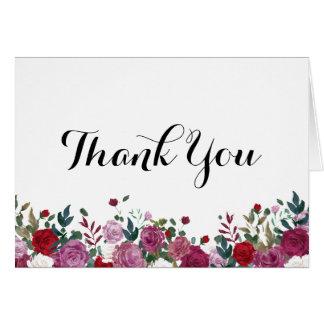 Rosen-Garten danken Ihnen zu kardieren Karte