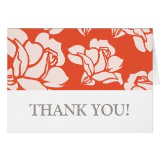 Rosen-Garten danken Ihnen zu kardieren Mitteilungskarte