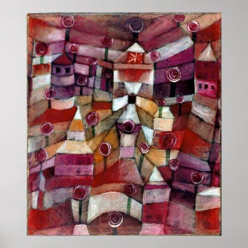 Rosen-Garten Pauls Klee Poster