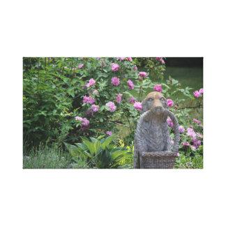 Rosen-Garten-Skulptur Leinwanddruck