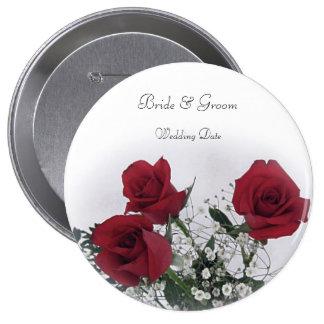 Rosen-Gastgeschenk Hochzeit Runder Button 10,2 Cm